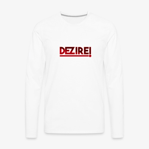 Dezire | Metallic Red - Men's Premium Long Sleeve T-Shirt
