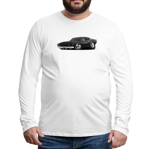 Classic 60's American Muscle Car Cartoon - Men's Premium Long Sleeve T-Shirt