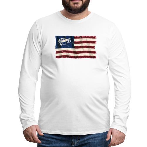 American Off Road 4x4 Overland Flag - Men's Premium Long Sleeve T-Shirt