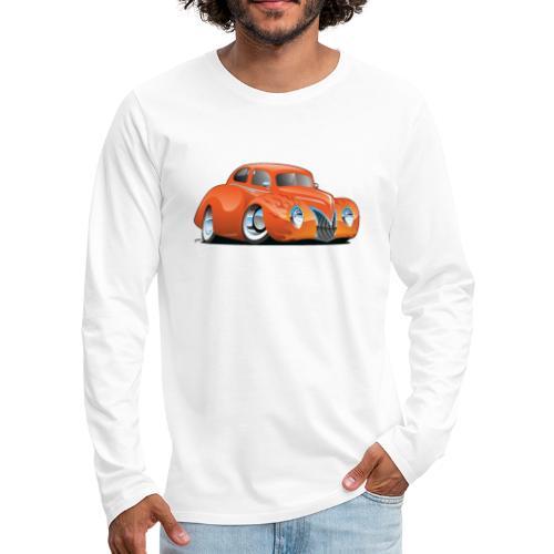 Custom Street Rod Vintage Car Cartoon - Men's Premium Long Sleeve T-Shirt