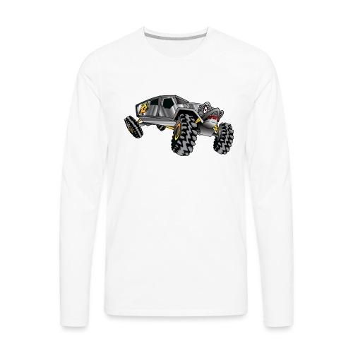 Rock Crawling Monster Truck Silver - Men's Premium Long Sleeve T-Shirt