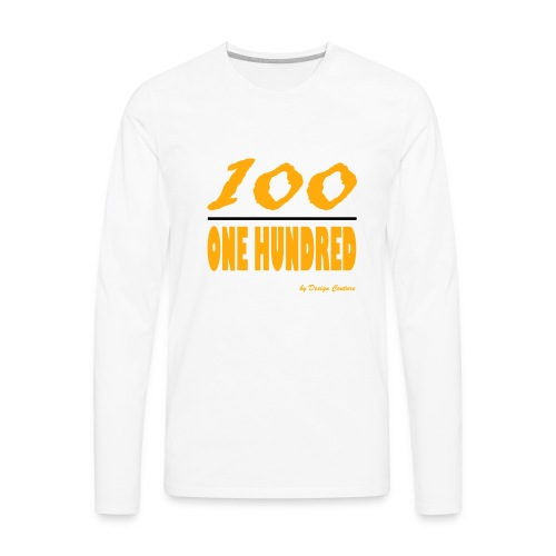 ONE HUNDRED ORANGE - Men's Premium Long Sleeve T-Shirt
