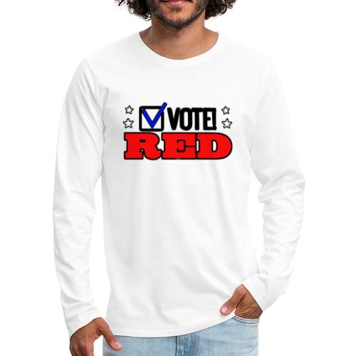 VOTE RED - Men's Premium Long Sleeve T-Shirt