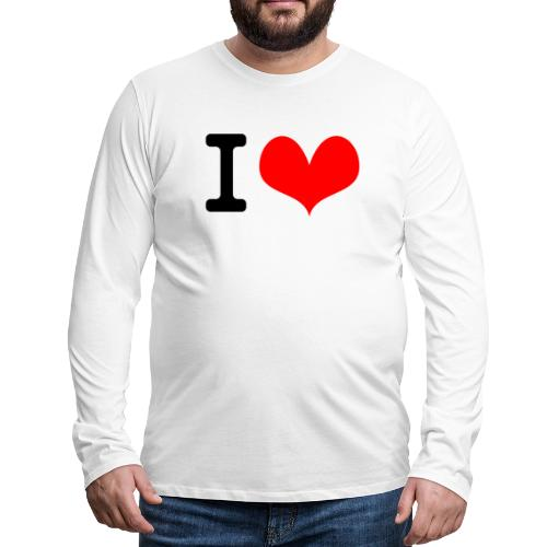 I Love what - Men's Premium Long Sleeve T-Shirt