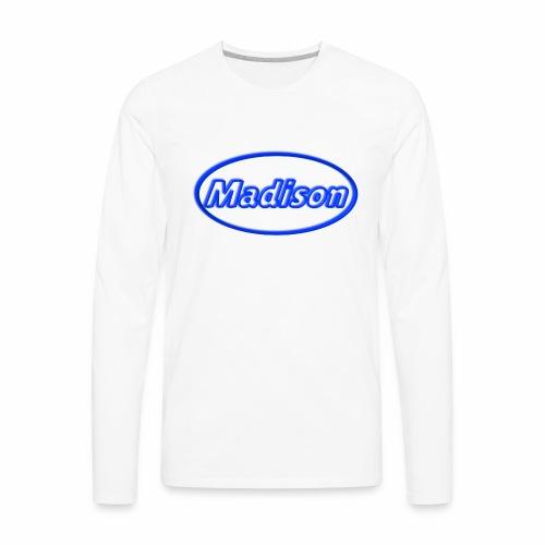 Madison in Neon Blue - Men's Premium Long Sleeve T-Shirt