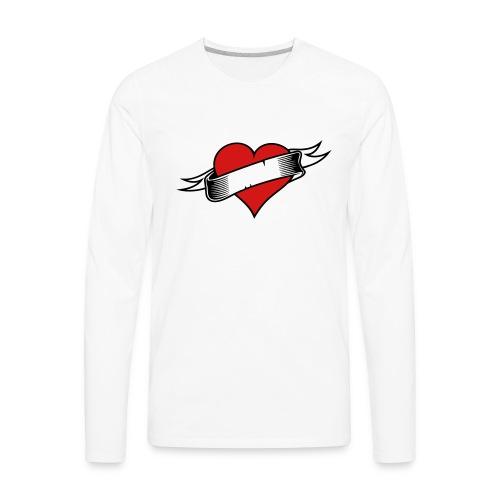 Custom Love Heart Tattoo - Men's Premium Long Sleeve T-Shirt