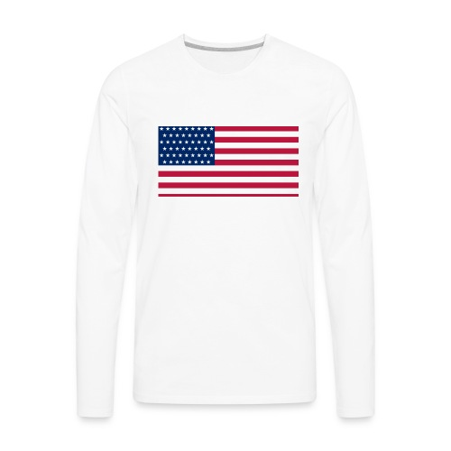 usa flag - Men's Premium Long Sleeve T-Shirt