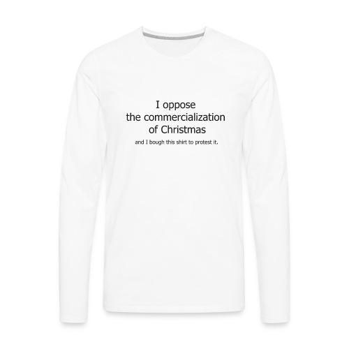 Christmas Commercialization Ladies T - Men's Premium Long Sleeve T-Shirt