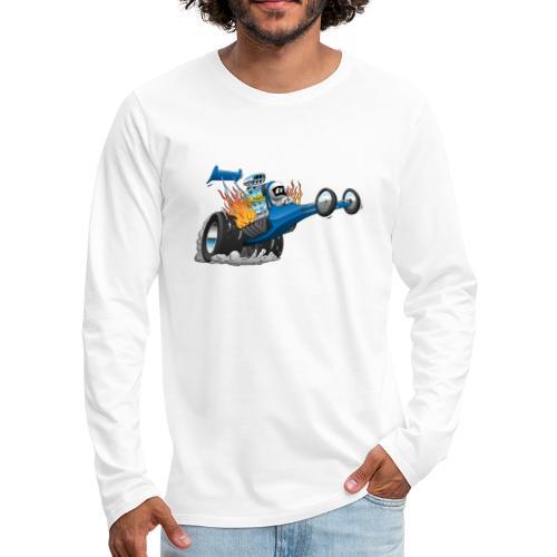 Top Fuel Dragster Cartoon - Men's Premium Long Sleeve T-Shirt