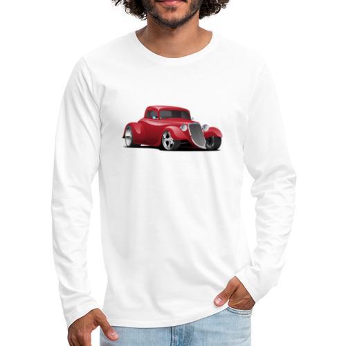 Custom American Red Hot Rod Car - Men's Premium Long Sleeve T-Shirt