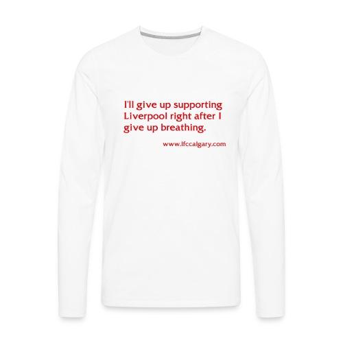 breathing red - Men's Premium Long Sleeve T-Shirt