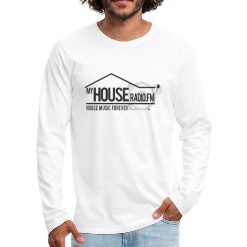 My House Radio Black Logo - Men's Premium Long Sleeve T-Shirt
