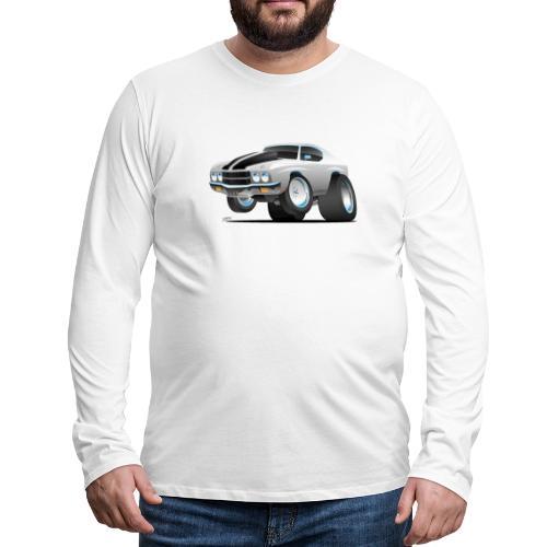 Classic 70's American Muscle Car Cartoon - Men's Premium Long Sleeve T-Shirt