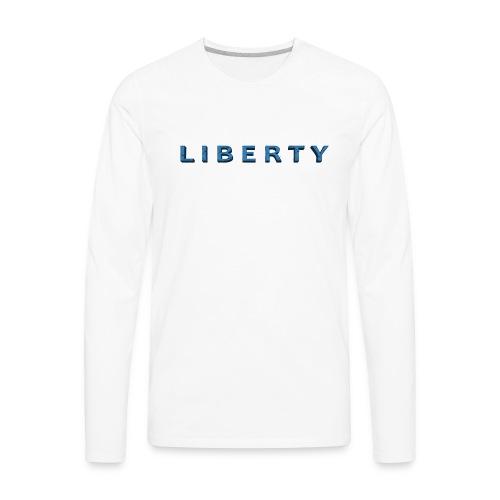 Liberty Libertarian Design - Men's Premium Long Sleeve T-Shirt