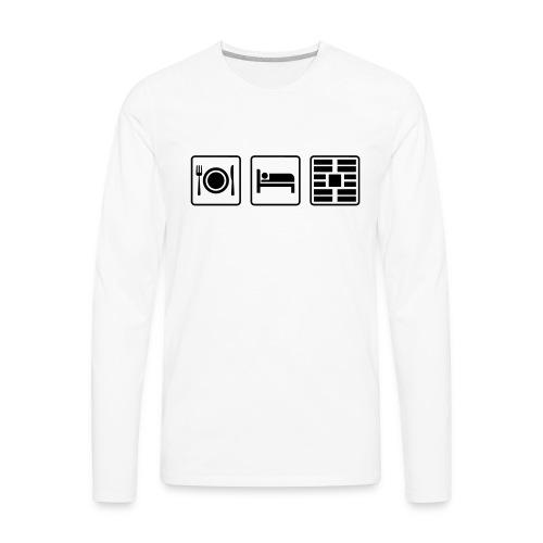Eat Sleep Urb big fork - Men's Premium Long Sleeve T-Shirt