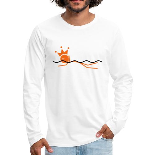 Winky Swimming King - Men's Premium Long Sleeve T-Shirt