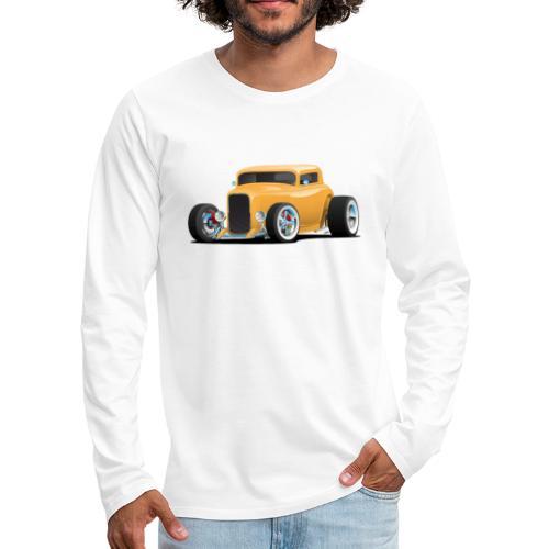 Classic American 32 Hotrod Car Illustration - Men's Premium Long Sleeve T-Shirt