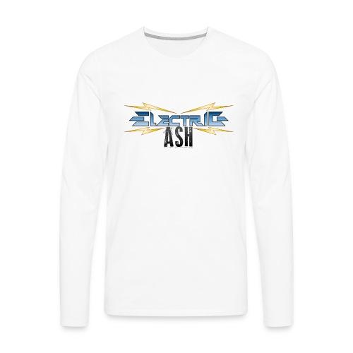 Electric Ash Logo - Main - Transparent Background - Men's Premium Long Sleeve T-Shirt