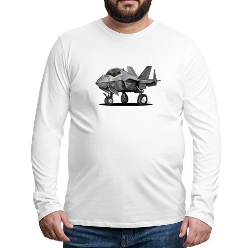 F-35C Lightning II Joint Strike Fighter Il Cartoon - Men's Premium Long Sleeve T-Shirt