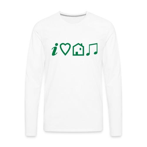 I Heart House Music - Symbolic Design 1 - Men's Premium Long Sleeve T-Shirt