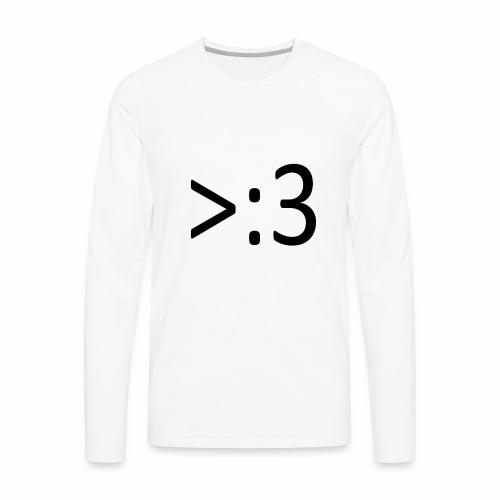 >:3 - Men's Premium Long Sleeve T-Shirt