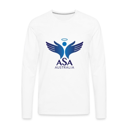 3459 Angelman Logo AUSTRALIA FA CMYK - Men's Premium Long Sleeve T-Shirt