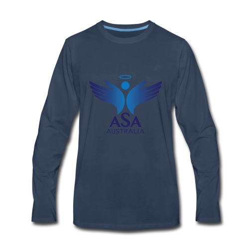 3459 Angelman Logo AUSTRALIA FA CMYK - Men's Premium Long Sleeve T-Shirt