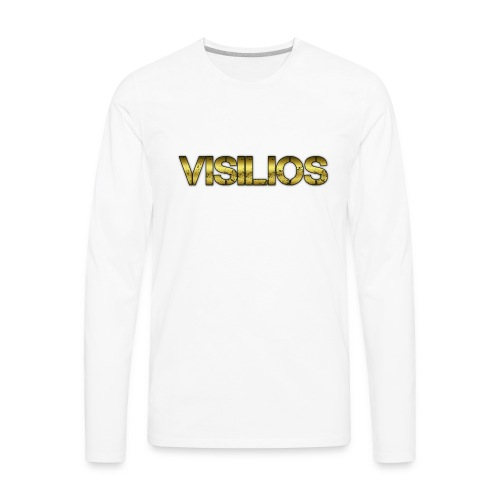 gold visilios logo t- shirt - Men's Premium Long Sleeve T-Shirt