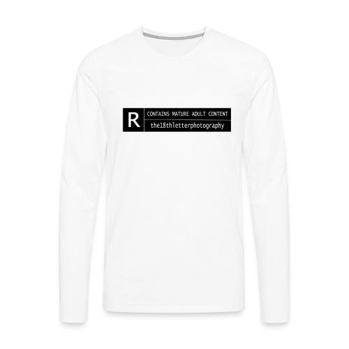 rated r - Men's Premium Long Sleeve T-Shirt