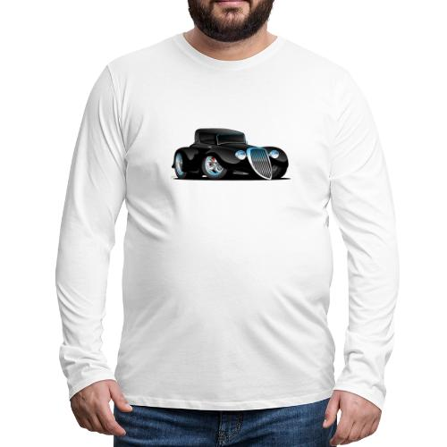 Black Hot Rod Classic Coupe Custom Car Cartoon - Men's Premium Long Sleeve T-Shirt