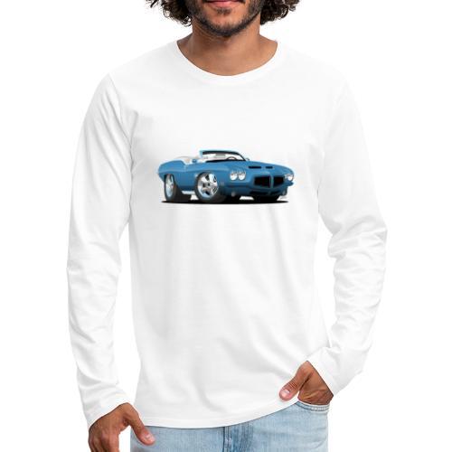 American Classic Seventies Convertible Car Cartoon - Men's Premium Long Sleeve T-Shirt