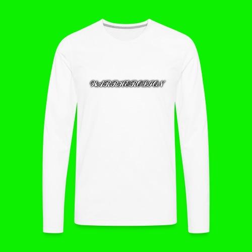 Warherolion plane text-gray - Men's Premium Long Sleeve T-Shirt