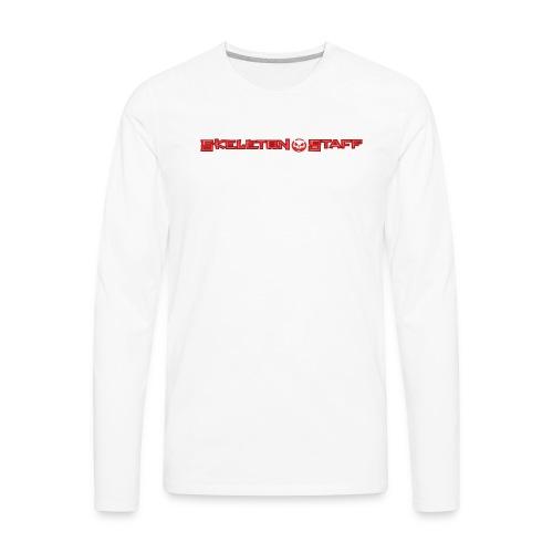 SKELETON STAFF WHITE SHIRT - Men's Premium Long Sleeve T-Shirt