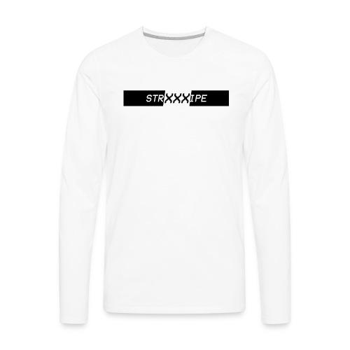 Stripe - XXX Logo T-shirts and Hoodies. (BLK) - Men's Premium Long Sleeve T-Shirt