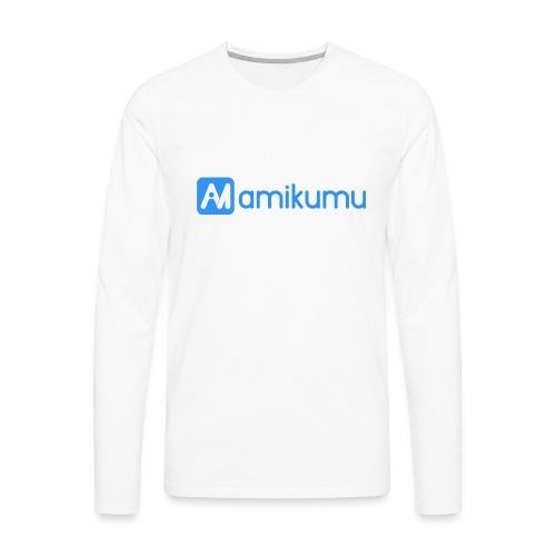Amikumu Logo Blue - Men's Premium Long Sleeve T-Shirt