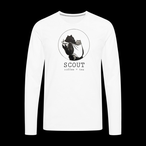 papa large logo - Men's Premium Long Sleeve T-Shirt