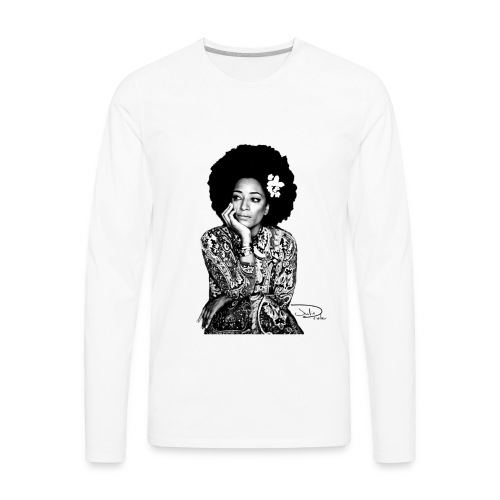 Julie Dexter Afro Flower - Men's Premium Long Sleeve T-Shirt