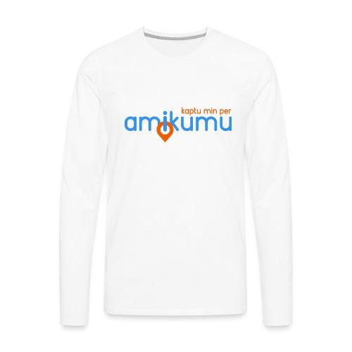 Kaptu min per Amikumu Blua - Men's Premium Long Sleeve T-Shirt