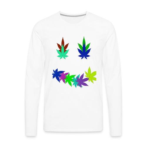 smiley stoner 2 - Men's Premium Long Sleeve T-Shirt
