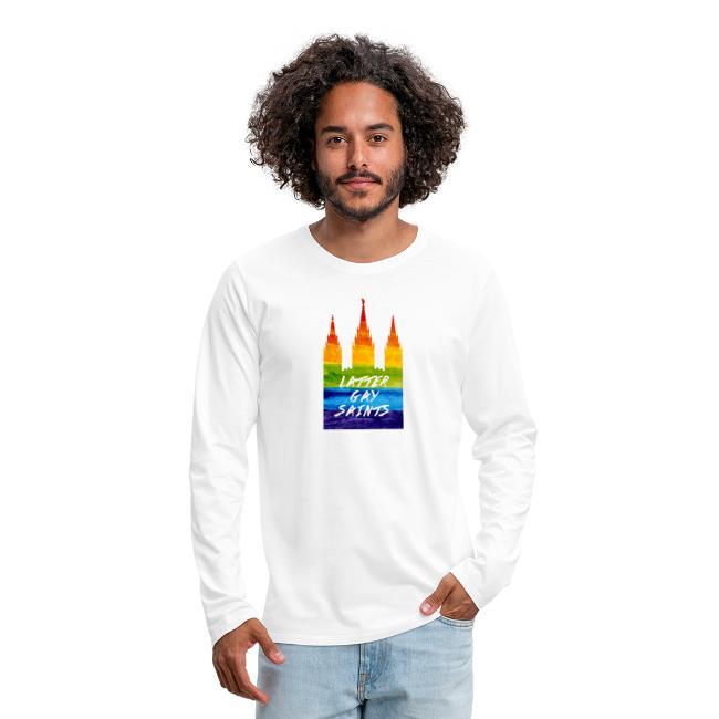 Mormon Temple in gay pride Latter gay saints