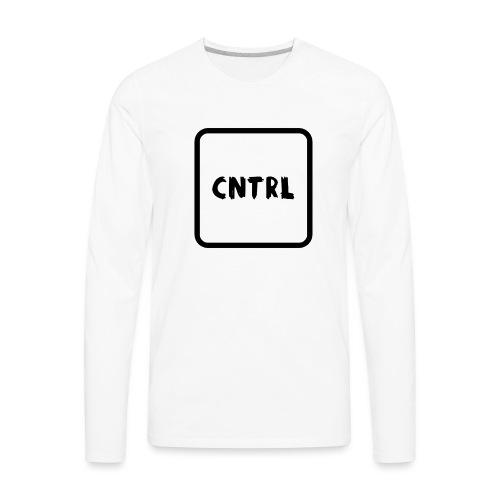 White CNTRL Logo - Men's Premium Long Sleeve T-Shirt