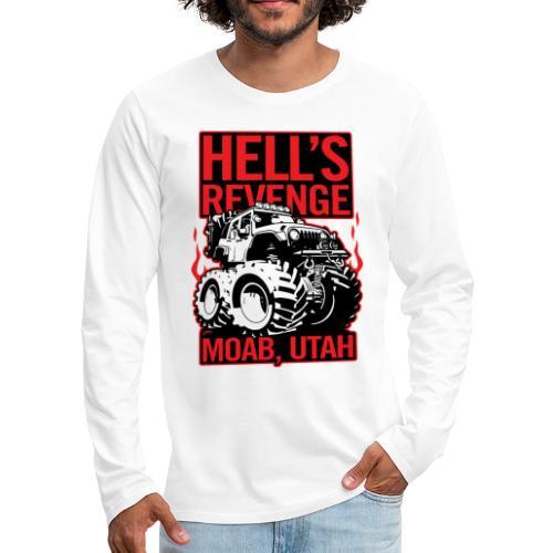 Hell's Revenge Moab Utah Off Road 4x4 Adventure - Men's Premium Long Sleeve T-Shirt