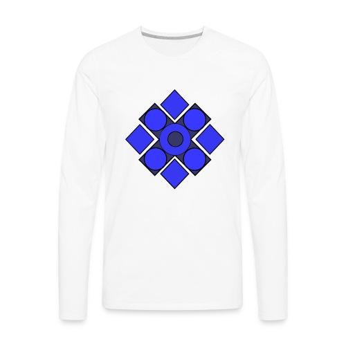 Geometric Cerulean - Men's Premium Long Sleeve T-Shirt