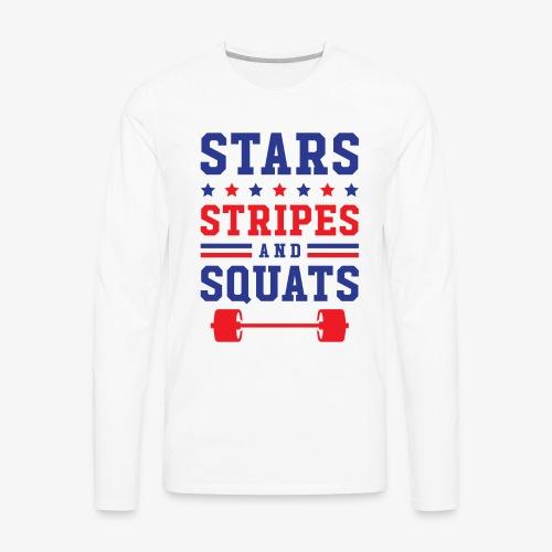 Stars, Stripes And Squats - Men's Premium Long Sleeve T-Shirt