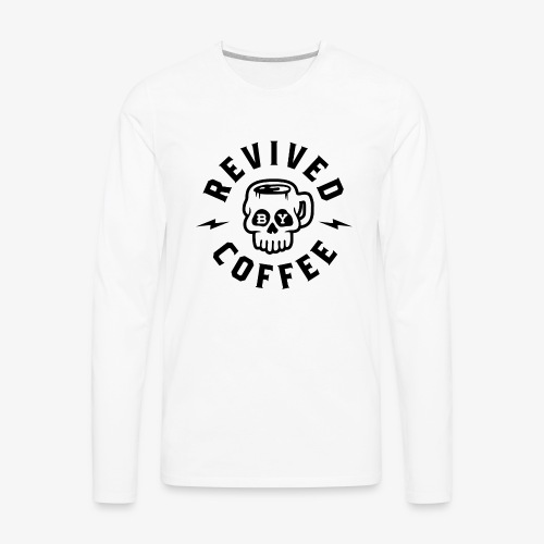 Revived By Coffee v2 - Men's Premium Long Sleeve T-Shirt