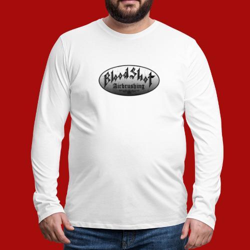 BloodShot Logo Black/White - Men's Premium Long Sleeve T-Shirt