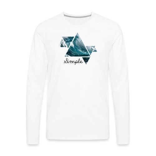 Wave logo(Simple) - Men's Premium Long Sleeve T-Shirt