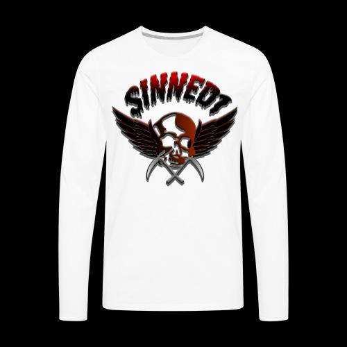 Sinned1 Dripping Text - Men's Premium Long Sleeve T-Shirt
