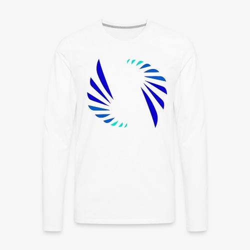 Cool Colors Logo - Men's Premium Long Sleeve T-Shirt