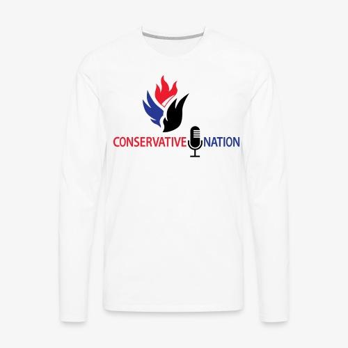 Conservative Nation Double Eagle Collaboration - Men's Premium Long Sleeve T-Shirt